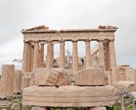 Templo do Partenon Imagem de Stock