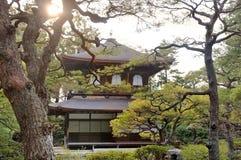 Templo do pavilhão da prata de Ginkaku-ji Foto de Stock Royalty Free