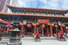 Templo do pecado de Wong TAI, Hong Kong Fotos de Stock