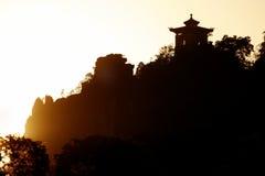 Templo do por do sol Fotos de Stock Royalty Free