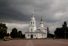 Templo do príncipe abençoado santamente Alexander Nevsky, Vologda, Rússia fotos de stock