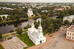 Templo do príncipe abençoado santamente Alexander Nevsky, Vologda, Rússia foto de stock royalty free