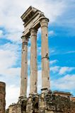 Templo do rodízio e do Pollux, romano de Foro, Roma Fotografia de Stock Royalty Free