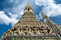 Templo do século XIX de Dawn Wat Arun, Banguecoque, Tailândia Fotografia de Stock Royalty Free