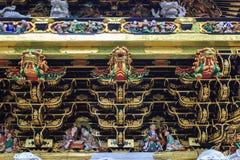 Templo do santuário de Nikko Toshogu em Nikko, Japão fotos de stock