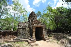 Templo do som de Cambodia Angkor Ta fotografia de stock royalty free