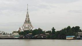 Templo do sothon de Wat de Tailândia Fotografia de Stock Royalty Free