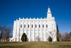 Templo do St George de LDS Fotos de Stock Royalty Free