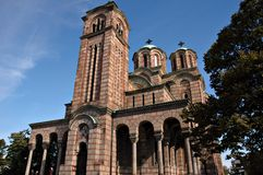 Templo do St. Marko em Belgrado imagem de stock royalty free