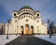 Templo do St Sava em Belgrado fotografia de stock