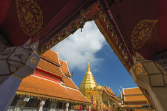 Templo do suthep do doi de Phra tat Foto de Stock Royalty Free