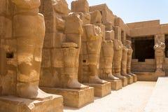 Templo do 3th de Ramses - a cidade antiga de Thebes, Karnak, Luxor, Egito fotografia de stock royalty free