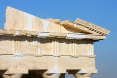 Templo do trabalho da reconstrução de Athena Nike Imagem de Stock Royalty Free