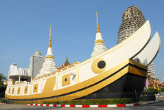 Templo do yannawa de Wat Fotos de Stock Royalty Free