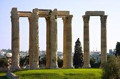 Templo do Zeus do olímpico foto de stock