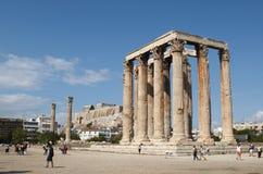 Templo do Zeus do olímpico Fotografia de Stock Royalty Free