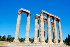 Templo do zeus do olímpico, Atenas Imagens de Stock Royalty Free