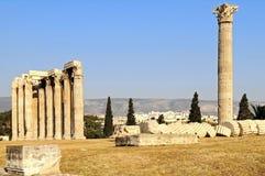 Templo do Zeus do olímpico Foto de Stock Royalty Free