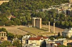 Templo do zeus do olímpico, Atenas Fotos de Stock Royalty Free