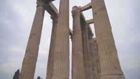 Templo do Zeus do olímpico video estoque