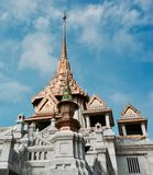 Templo dourado Banguecoque Fotos de Stock