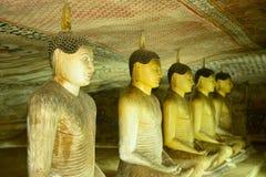 Templo dourado de Dambulla, Sri Lanka Imagem de Stock