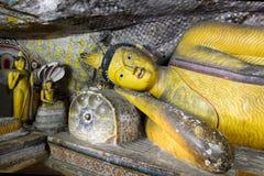 Templo dourado de Dambulla, Sri Lanka Imagem de Stock Royalty Free