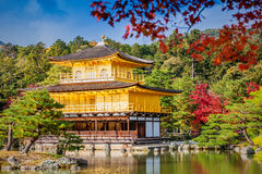 Templo dourado de Kinkakuji do pavilhão Fotografia de Stock