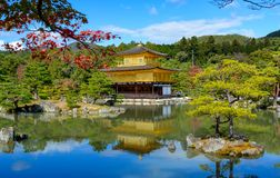 TEMPLO DOURADO de KINKAKUJI em kyoto Japão fotos de stock royalty free