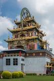 Templo dourado de Zangdog Palri do monastério budista de Namdroling, Co Fotografia de Stock