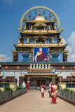 Templo dourado de Zangdog Parli do monastério budista de Namdroling, Co Foto de Stock