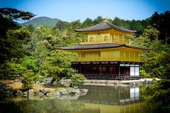 Templo dourado do pavilhão Fotografia de Stock Royalty Free