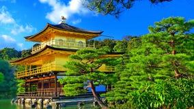 Templo dourado do zen de Japão fotografia de stock