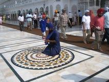 Templo dourado em Amritsar - Sri Harimandir Sahib. Imagem de Stock Royalty Free