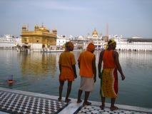 Templo dourado em Amritsar - Sri Harimandir Sahib. Foto de Stock