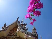 Templo e flor Foto de Stock