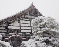 Templo e neve de Nanzenji Fotos de Stock