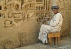 Templo egípcio 1 da restauração Imagens de Stock Royalty Free