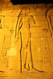 Templo egípcio em Komombo fotos de stock