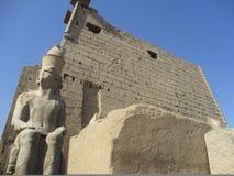 Templo egipcio antiguo Imagen de archivo libre de regalías
