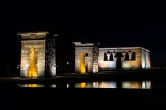 Templo egipcio antiguo Debod del templo fotos de archivo libres de regalías
