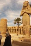 Templo Egipto de Karnak imagem de stock royalty free