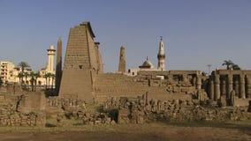Templo Egipto de Luxor almacen de video
