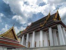 Templo em Banguecoque, e em pavilhão Tailândia Imagens de Stock