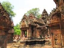 Templo em Cambodia. foto de stock
