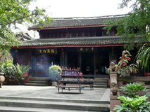Templo em Chengdu foto de stock