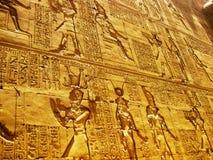 Templo em Edfu - detalhe de Horus Fotografia de Stock Royalty Free