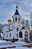 Templo em honra do ícone da mãe do deus Tyumen Fotografia de Stock Royalty Free