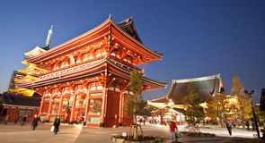 Templo em Japão, estrutura da porta de Sensoji Fotos de Stock Royalty Free