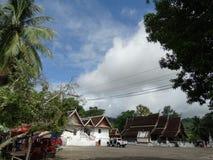 Templo em Luang Prabang, Laos imagem de stock royalty free